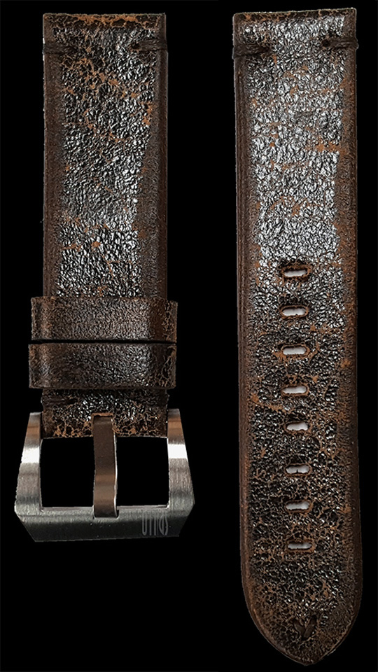 07 Vintage Cow Leather Strap Dark Brown