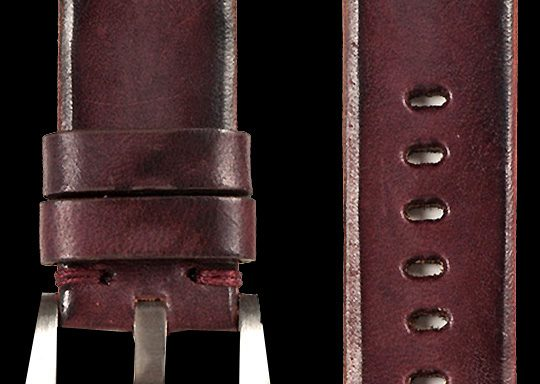 14 Vintage Horse Leather Strap Maroon