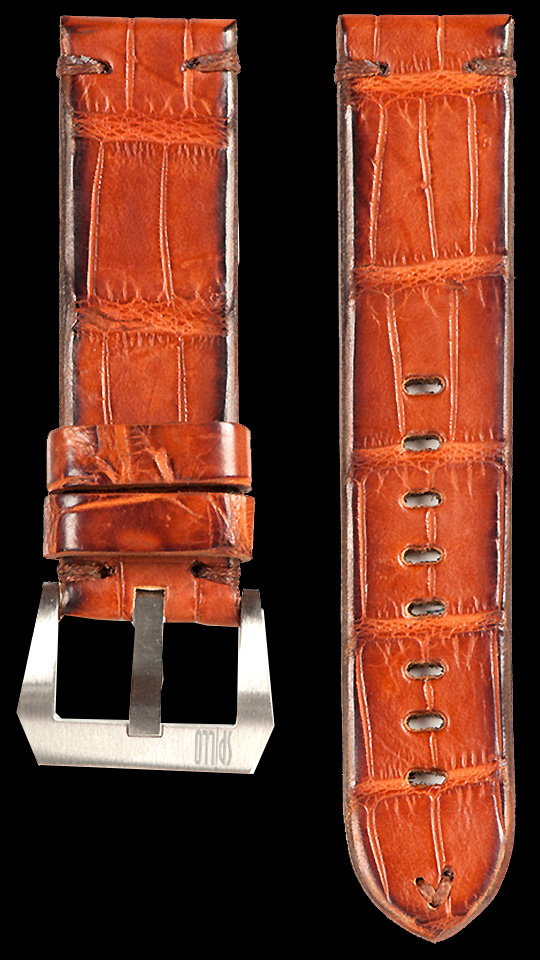 15 Vintage Alligator Strap Lt Brown