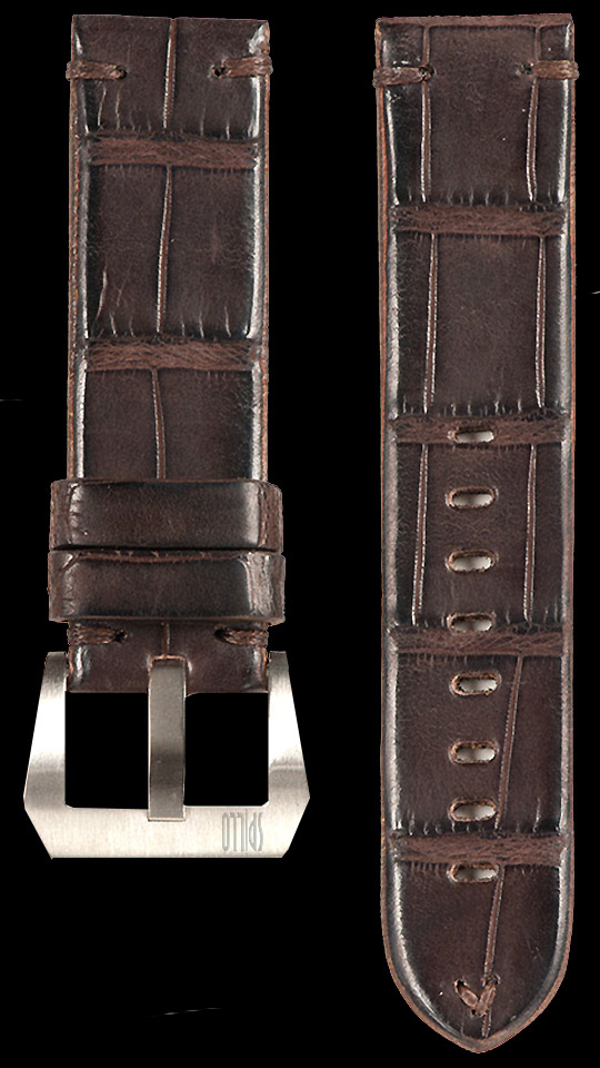 17 Vintage Alligator Strap Brown