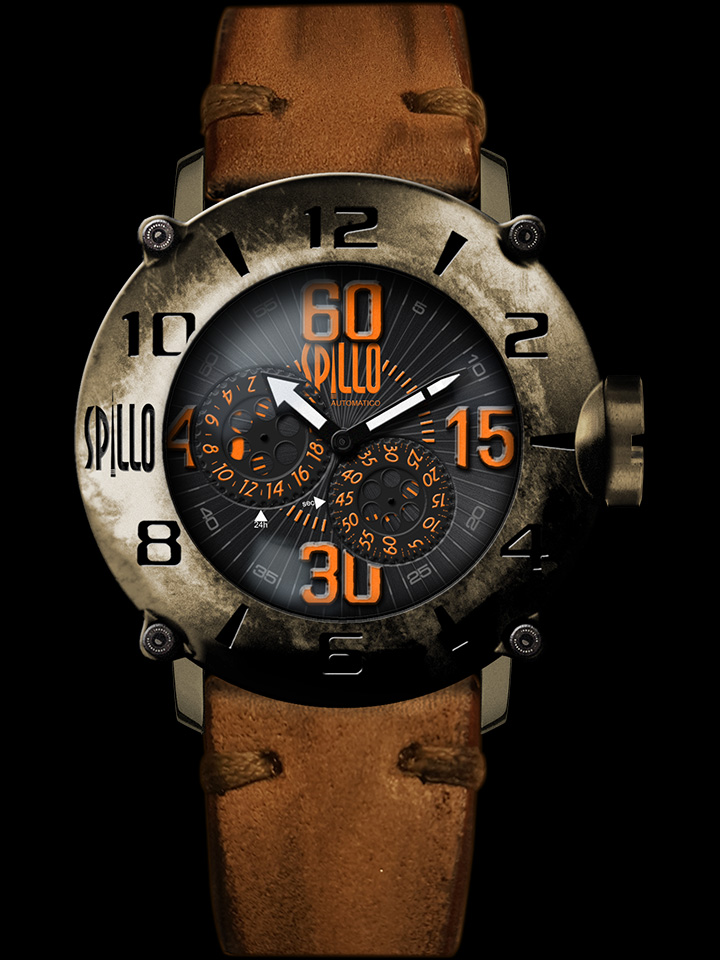 スチームパンクのような近未来的な感覚をもったアナログ時計 SPILLO