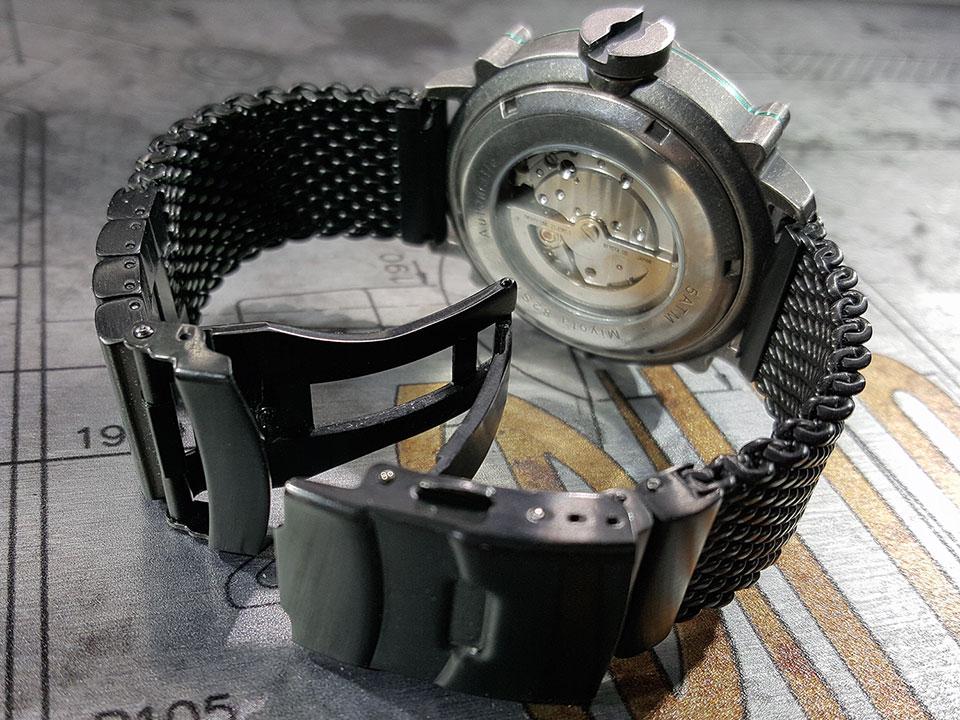 SPILLO 機械式腕時計 ミラネーゼブレスレット