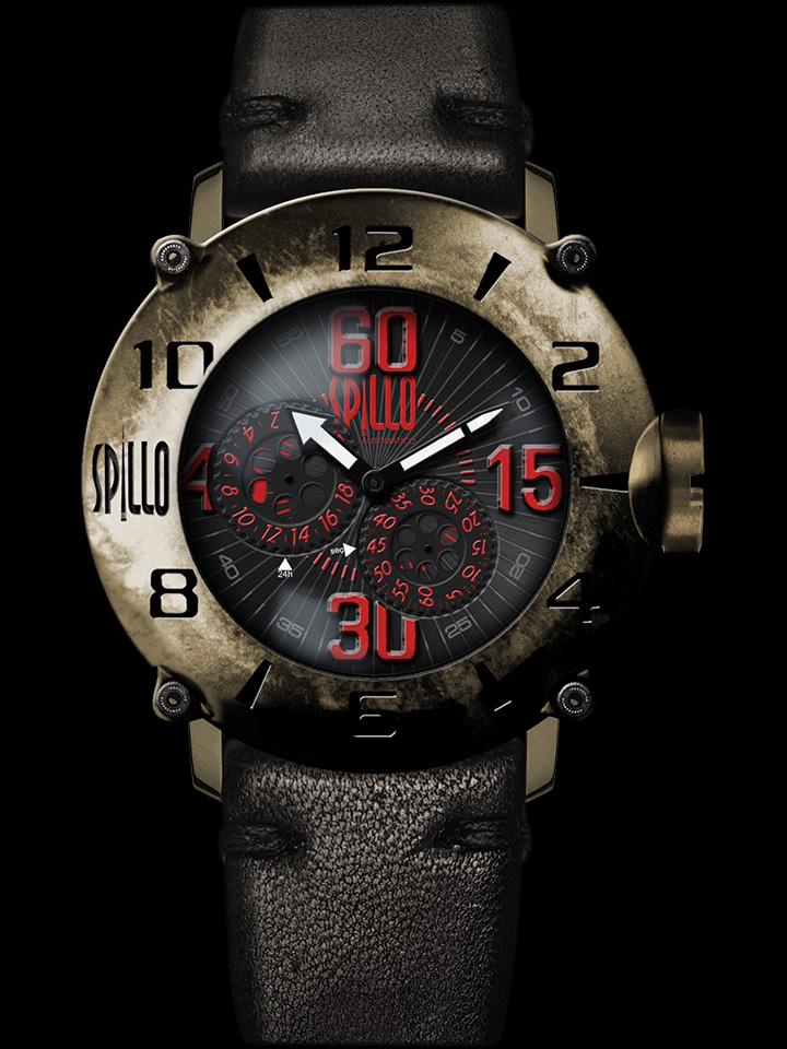 オートバイのキャブレターをモチーフにしたイタリア時計 SPILLO