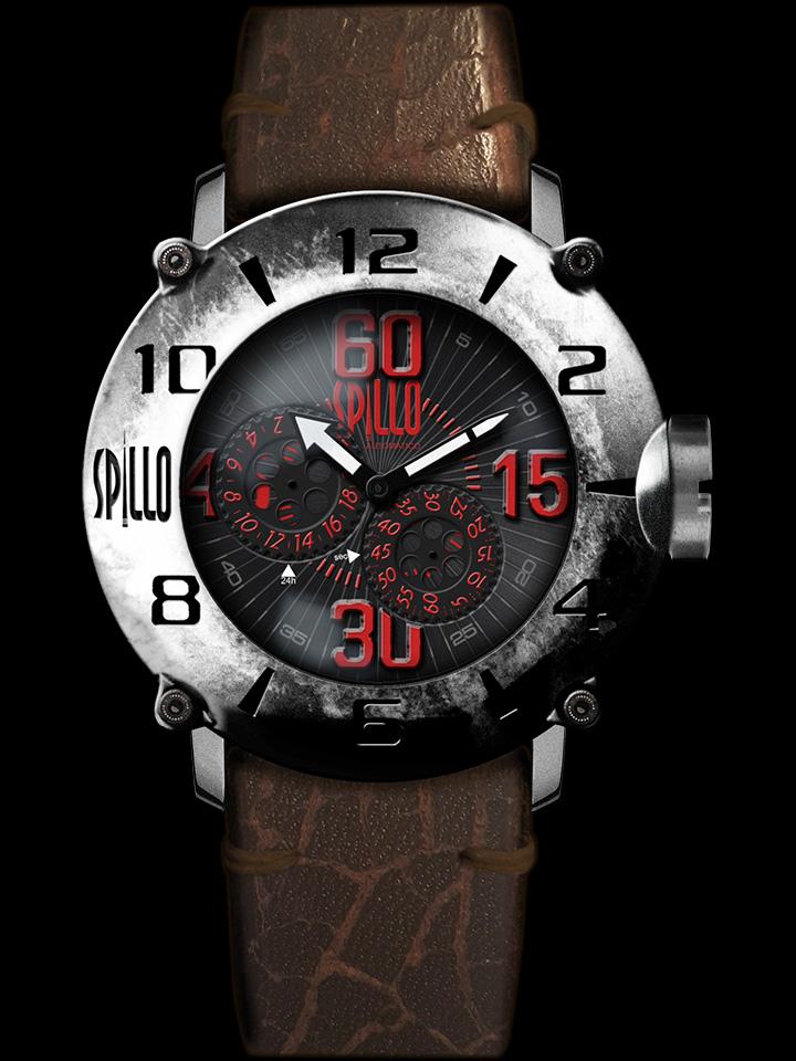 マッドマックスに出てきそうなハードなルックスの腕時計 SPILLO