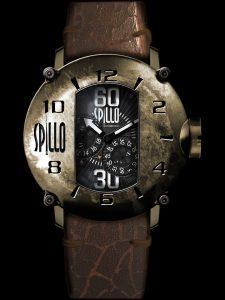 スチームパンクを彷彿させるユニークなデザインの機械式腕時計 SPILLO