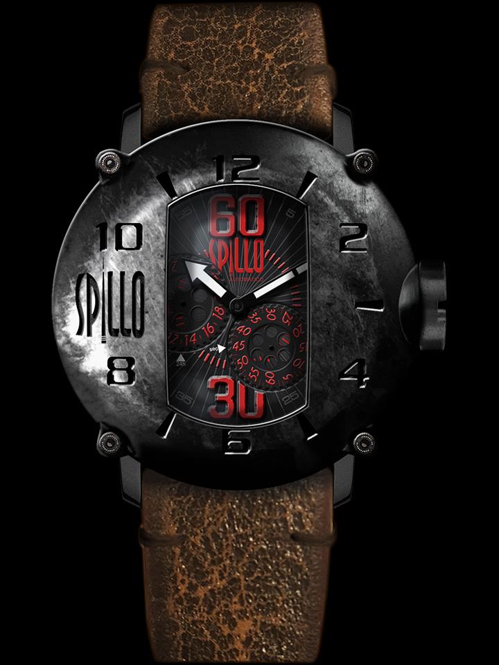 SF映画に出てくるような個性的なデザインの腕時計 SPILLO