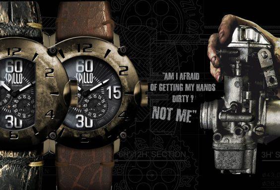 エイジング加工が魅力の腕時計