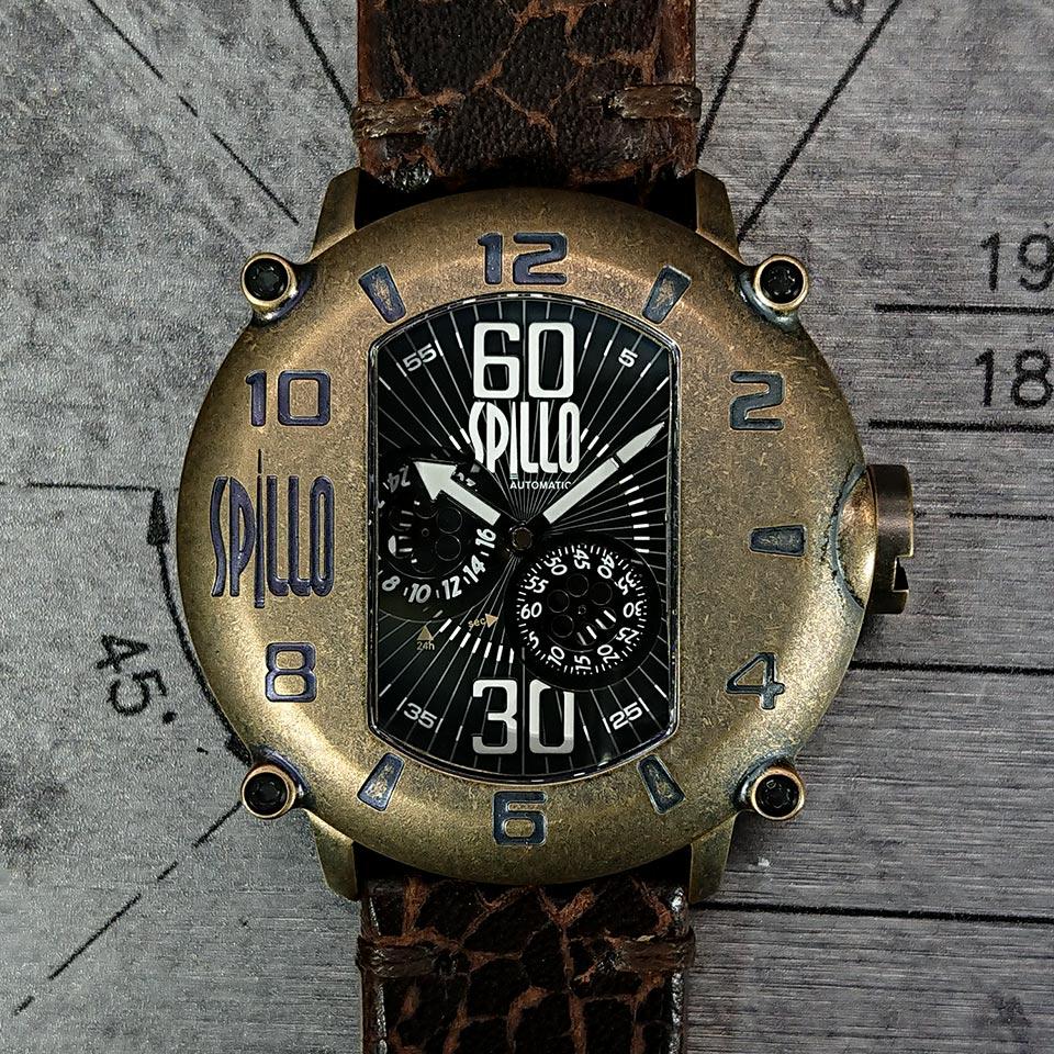 イタリア時計スピーロのレザーストラップモデル