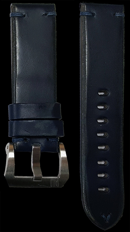10 Vintage Horse Leather Strap Navy