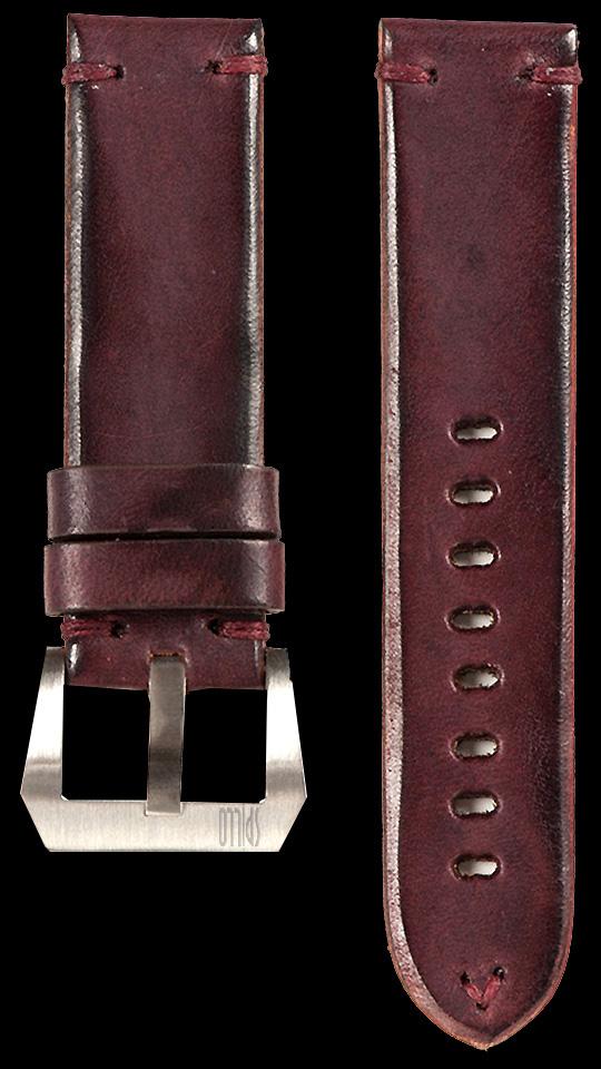 14 Vintage Horse Leather Strap Maroon