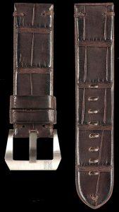 17 Vintage Alligator Strap Brown
